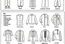 Fashion garment terminology