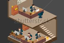 business vector isometric illustration / http://www.shutterstock.com/portfolio/search.mhtml?gallery_landing=1&gallery_id=3810161&page=1&safesearch=1&sort_method=popular