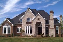 Brick Chimneys / When it's built with brick, a chimney can make a dramatic style impact on your home.