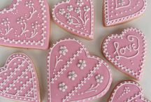 Valentine and wedding iced sugar cookies / Valentine's day cookies