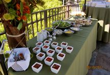 Buffet Displays / Here are some examples of different dinner buffets, small plate displays and finger dessert buffets.