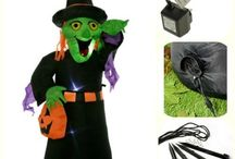 Inflatable Halloween Witch Airblown LED Lighted Decoration Multi-Colour 120cm
