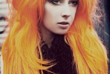 ChEvEux OrangE-Tangerine Hair / Cheveux Orange-Tangerine Hair-Coloration-Haircolor