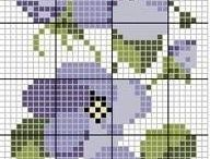 Flowers cross stitch