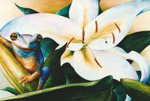 Kikkers - Frogs / Olieverf schilderijen van kikkers door Wendy van Vondel