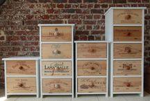 Meubles avec caisses à vin