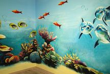 Artystyczne malowanie ścian - Podwodna kraina / Malowidło specjalnie stworzone dla Centrum Zabaw dla dzieci
