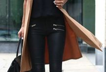 How to wear: black coated jeans