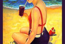Vintage Swim Suit Posters - Fun!