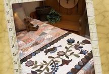 Warm wool applique, penny rugs