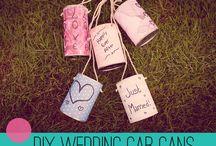 MWF | Wedding car cans