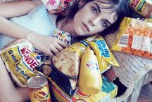 Junk food fashion editorials