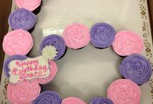 Muffins cake design