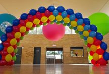 Arch: Air-filled / Framed / Built on a frame, these spectacular balloon arches are a great way to draw attention to your party, store or event. A gallery of our classic Continuous Curve or customised Heart, Star, Square or Cantilevered varieties. / by Balloons Online