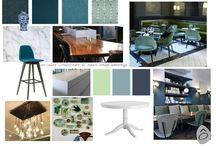 Planches d'ambiance / Conseil couleur et recherche de mobilier et d'accessoires