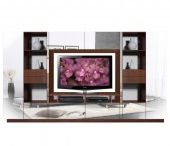 Lucus Entertainment Wall Unit w Open Space and Closed Storage