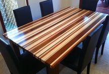 Eetkamer tafel / Pyp pote