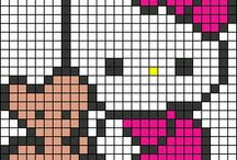 HELLO KITTY. / hama and perler beads,