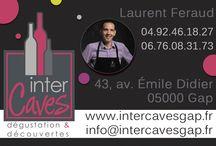 Exemple de réalisation / Réalisation de Cartes de visite pour un caviste http://www.infini-communication.com/?menu=creations&sousmenu=identitevisuelle