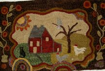 Hooked Rugs, Mainly Houses