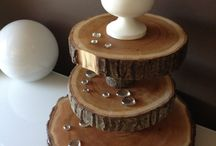 Wood Cupcake Stands, Rustic / Wood Cupcake Stands, great for wedding, wood centerpieces for tables, wood slices, wood cake stands, and rustic weddings.