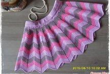 háčkované sukničky pre dievčatá
