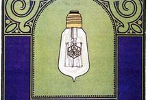 AEG - oświetlenie na starej reklamie