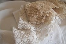 vintage linen and lovely lace♥ / decor home with linen, cotton, lace, doily... hand-printed, patterned and vintage fabrics