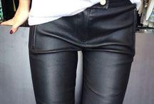 Jeather / Loving denim, loving leather. Get the look!