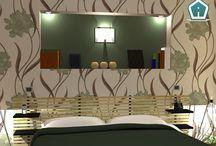 portfolio rendering camere / Portfolio dei rendering realizzati per camere