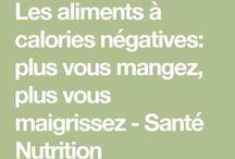 aliments à calories negatives