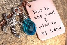 Hand Stamped Summer Jewelry / Beach inspired hand stamping ideas
