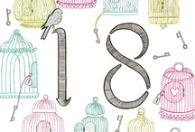Milestones / Collection of Fay's Studio hand illustrated greeting cards for special female Birthdays from age 16-40.