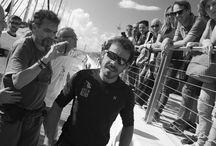 Reportage Italia di Gianfranco Mura / Il fotografo e regista  Gianfranco Mura ha documentato la partenza di Gaetano e Italia dal porto di  Cagliari
