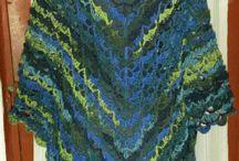 Crochet shawl colored, fun, soft, winter