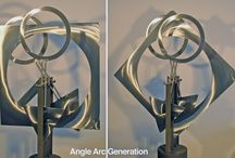 Kinetic Sculpture / Moving art has more to offer in person or in video. The motion is gentle and mesmerizing with many more pieces having been created than offered in this portfolio.