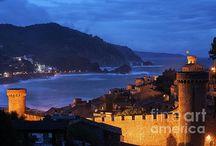 Tossa de Mar / Tossa de Mar in Catalonia, Spain. Coastal town at Mediterranean Sea (Balearic Sea).