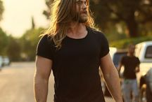 Long hair hot men