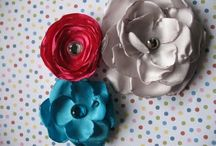 Crafts: flowers from fabric
