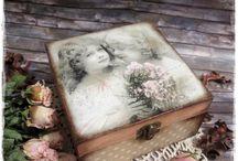 Vintage doboz - barátnők