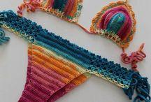 Crochet Bikini / color beach bikini,color crochet bikini,2017 trends bikini,crochet patterns,clothing,women's clothing,brazilian bikini,boho crochet bikini