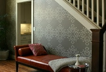 accent wall / by Elizabeth Londino Whiddon