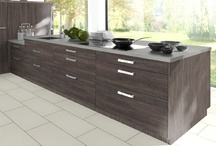 Laminate Wood Effect Kitchens / PVC Edged laminate kitchens. In a range of rustic wood effect finishes.