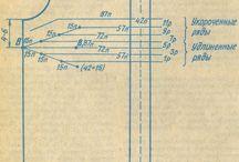 Схемы, чертежи и выкройки, таблицы расчета кол-ва пряжи