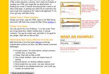 MailChimp timeline 2001 – 2017 / Look through the development of MailChimp websites on a timeline.