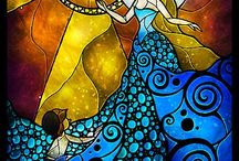 Üvegfestés / Glass paint, stained glass