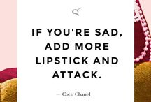 Beauty Truths / The best beauty quotes to inspire you or make you laugh.