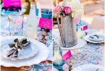 Pink & Blue pastel / love themed wedding ideas