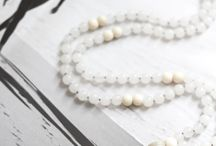 Heal Mala / Mala bead necklaces for meditation and crystal healing | Meditation for beginners | crystals and stones | inspired by: revitalizing ocean air