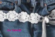 cinturones al crochet